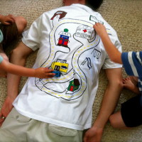 Játszó póló fáradt ApukáknakJátszó póló fáradt Apukáknak