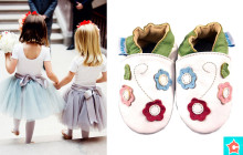 Színes virágos puhatalpú cipő