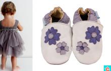 Szépséges lila mintás cipőcske hercegkisasszonyoknak