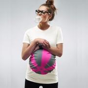 Pink strandlabdás terhes póló