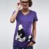 Lila pandás terhes póló