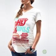 Krém színű retro terhes póló