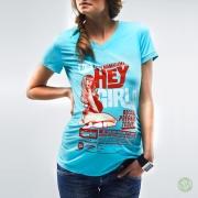 Kék retro terhes póló