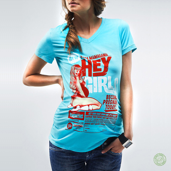 2aabb89a9d Kék retro terhes póló | coool.hu